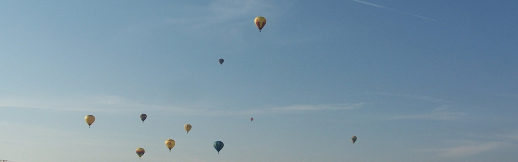 Balloons in the sky over Marysville Ohio