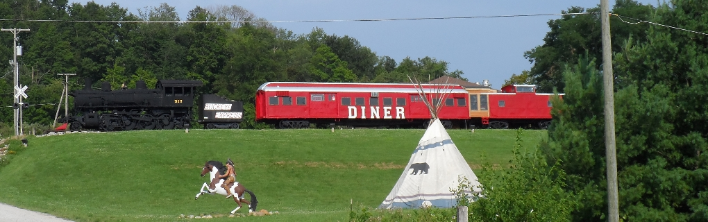 """Train Diner"" on the hill http://buckeyeexpressdiner.com/"